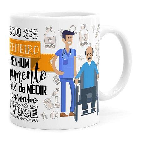 Caneca Personalizada Sou Enfermeiro com Nome Branca