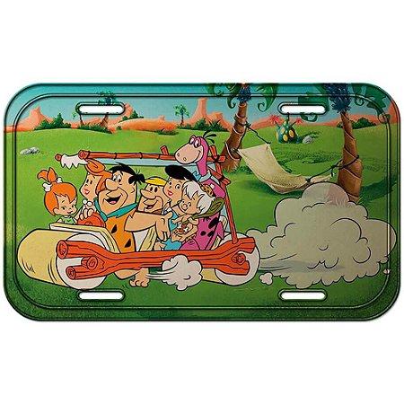 Placa Decorativa Flintstones The Family Riding 30x15cm