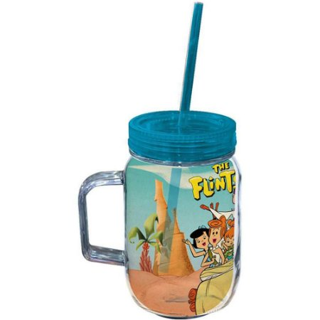 Copo Jarra Flintstones Family In Car 550ml Acrílico