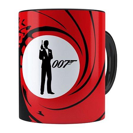 Caneca 007 James Bond v01 Preta