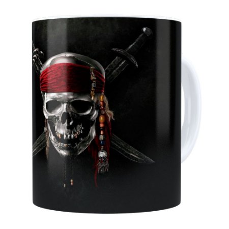 Caneca Piratas do Caribe v01 Branca