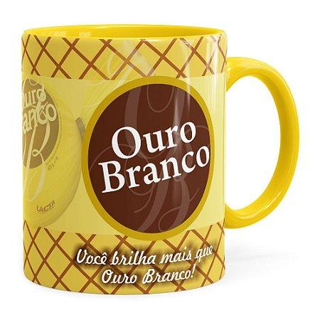 Caneca Chocolate Ouro Branco Amarela