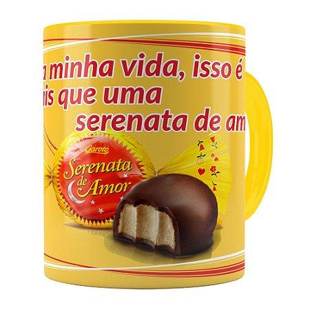 Caneca Chocolate Serenata de Amor v01 Amarela