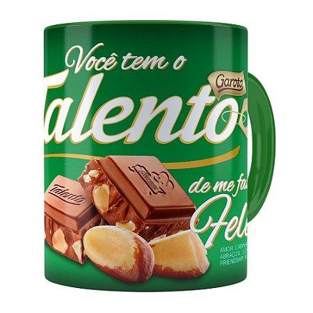 Caneca Chocolate Talento Barra Mensagem v02 Verde