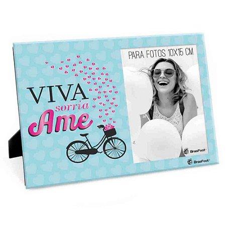Porta Retrato Frases Viva Ame Sorria 10x15