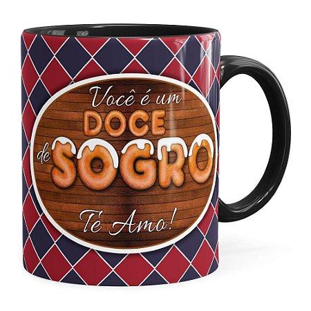 Caneca Personalizada Doce de Sogro com Foto Preta