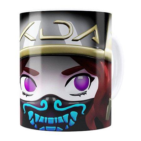 Caneca Akali 3D Print League of Legends Branca