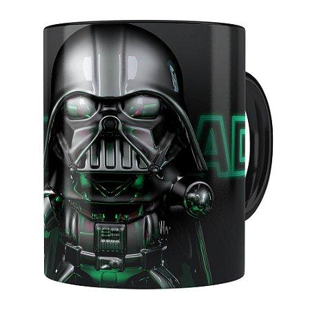 Caneca Darth Vader 3D Print Star Wars Green Preta