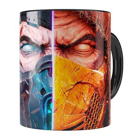 Caneca Mortal Kombat 3D Print Preta