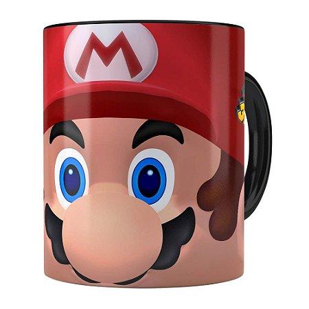 Caneca Mario 3D Print com Logo Preta