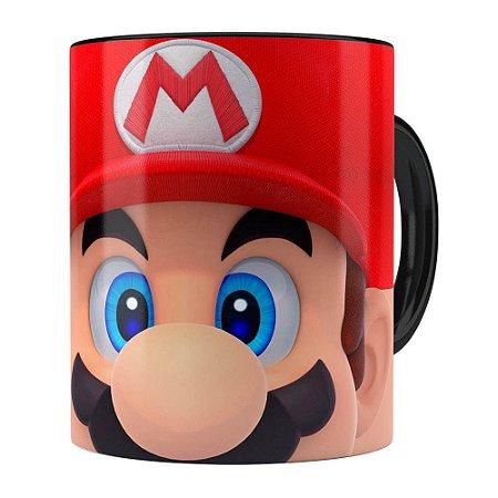Caneca Mario 3D Print Super Preta