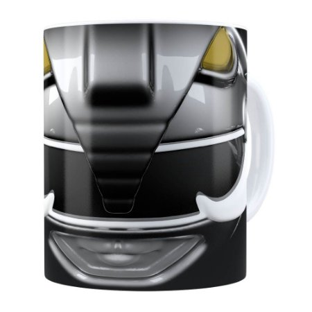 Caneca Ranger Black 3D Print Power Rangers Branca