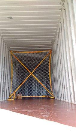 Rede divisória de carga para container