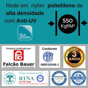 Rede de Proteção Nylon Polietileno M5.0 Altura 1,30