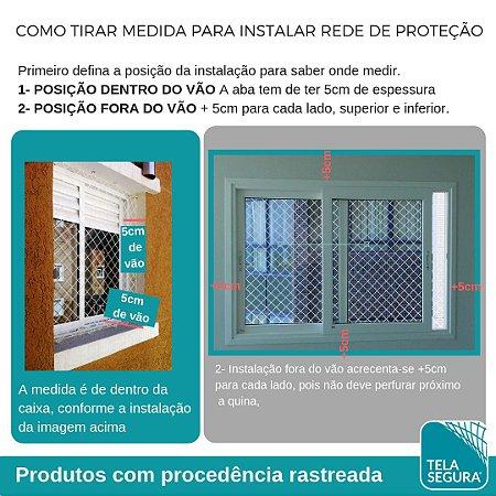 Rede de Proteção Malha 5 - Kit Completo -   Sob Medida