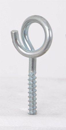 KIT Bucha de nylon e Gancho Espiral Zincado  500un.