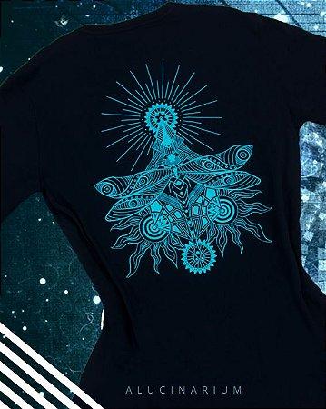 Camiseta Libélula Azul Água