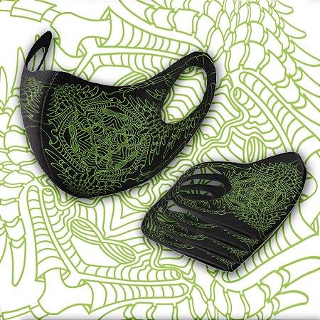 Mascara Tribal Art Tsu Verde G