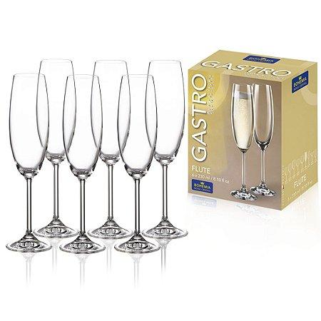 Jogo De 6 Taças Cristal Bohemia Champagne 230ml Titanium