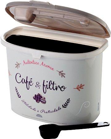 PORTA CAFÉ E FILTRO - PLASÚTIL
