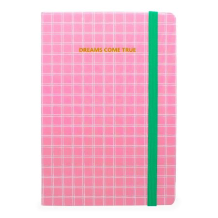 CADERNO DREAMS COME TRUE ROSA