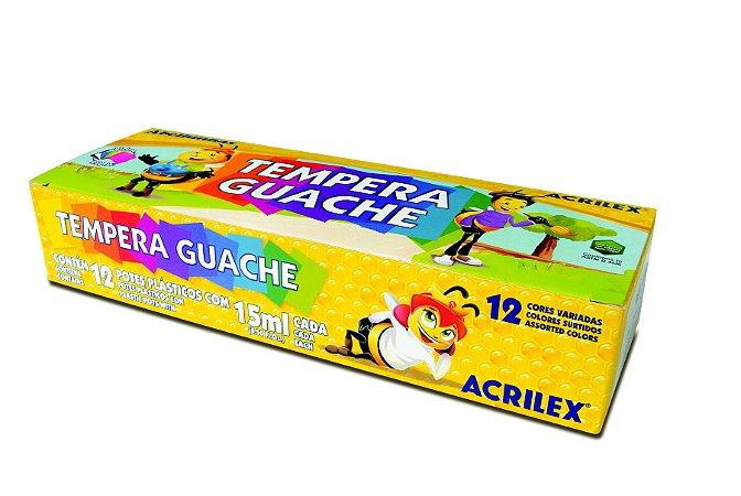 TEMPERA GUACHE C/12UN ACRILEX