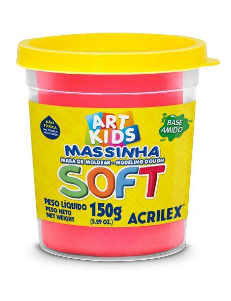 MASSINHA DE MODELAR SOFT VERMELHO 150G ACRILEX
