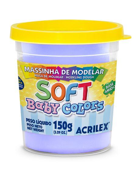 MASSINHA DE MODELAR SOFT LILAS BEBE BABY COLORS 150G ACRILEX