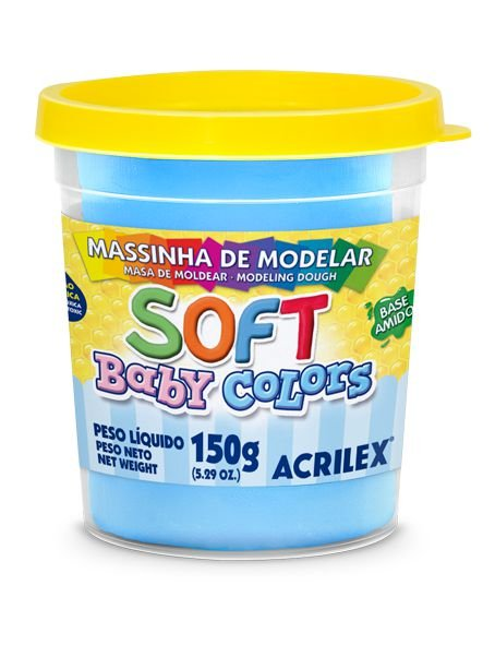 MASSINHA DE MODELAR SOFT AZUL BEBE BABY COLORS 150G ACRILEX