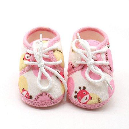 7dbf486fe Tênis Girafinha Rosa - Pipoquinha Baby & Kids