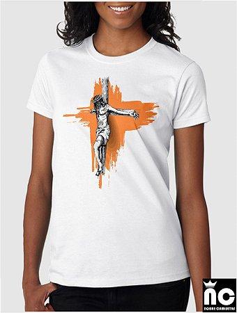 254522257 Camiseta Católica - Jesus na Cruz - Nobre Camisetas