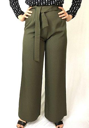 Calça clochard pantalona verde