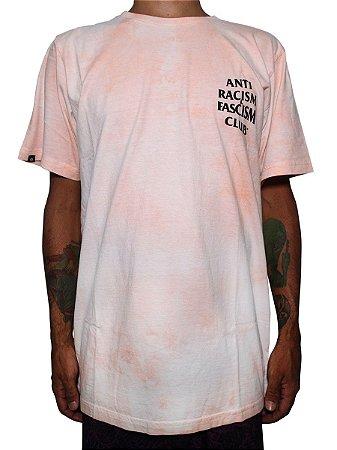 Camiseta Chronic 420 Anti Racism Fascism Club Tie Dye Rosa