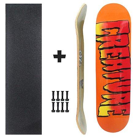 Shape Skate Creature 8.0 Powerlyte Fiberglass + Lixa + Parafuso 10 Brinde