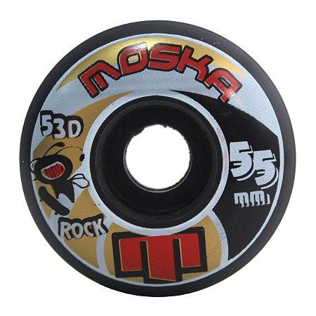 Roda Skate Moska 55mm Rock 53D Street Preta