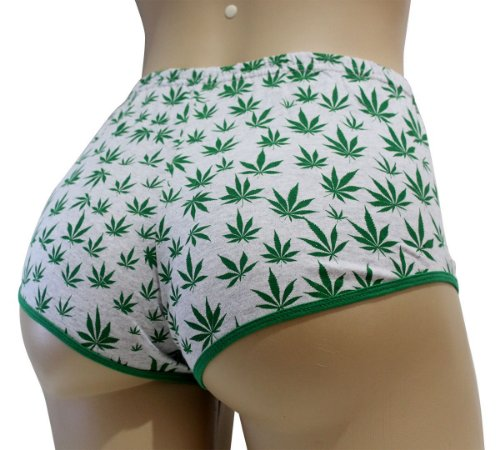 Short Cannabis Cinza Mescla e Verde Ray Brown