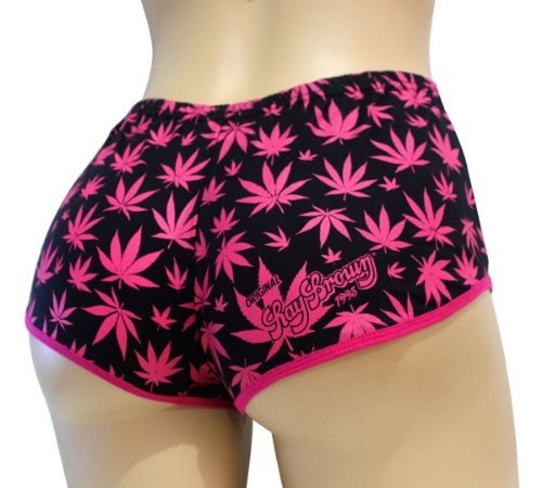 Short Cannabis Preto e Rosa Ray Brown