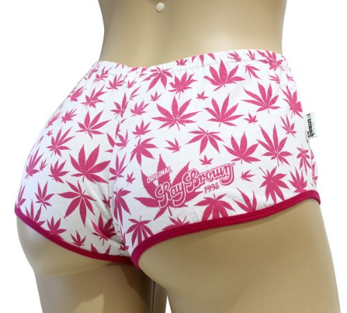 Short Cannabis Branco e Rosa Ray Brown