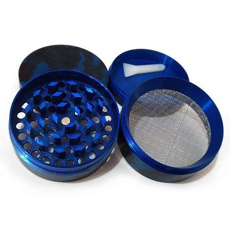 Dichavador de Metal 4 partes Camuflado Azul 5cm