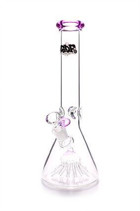 Bong de Vidro Ice Squadafum Premium Jellyfish Rosa 36cm