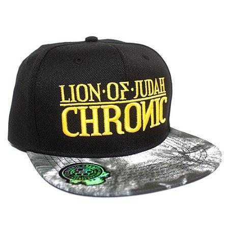 Boné Chronic Leão Bordado Aba Reta Lion of Judah