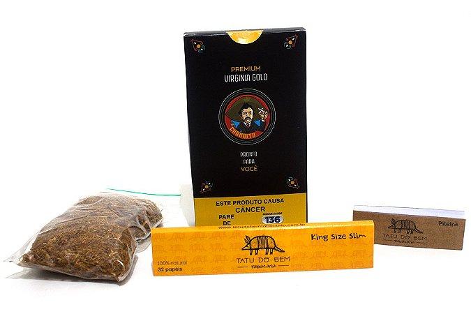 Tabaco Premium Virginia Charrito Seda Tatu Do Bem e Piteira