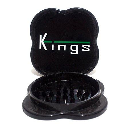 Dichavador de Policarbonato Kings Grande Triturador Preto