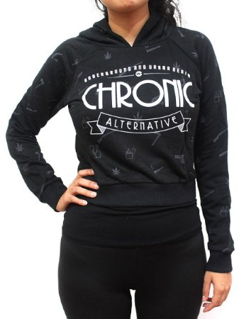 Blusa de Moletom Feminino Chronic 420 Alternative Underground