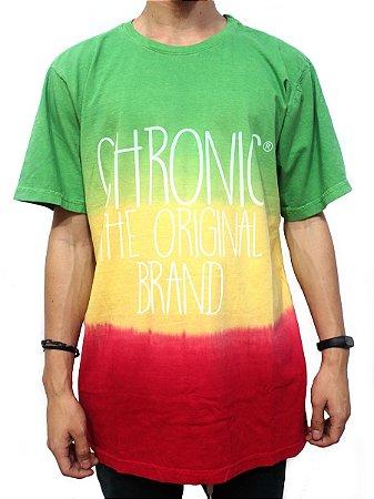Camiseta Chronic 420 Reggae Roots Red Gold Green