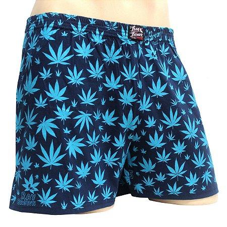Cueca Samba Canção Cannabis Azul Ray Brown