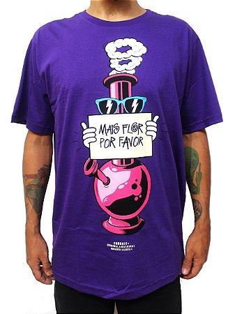 Camiseta Chronic 420 Mais Flor Por Favor Bong Original Roxo