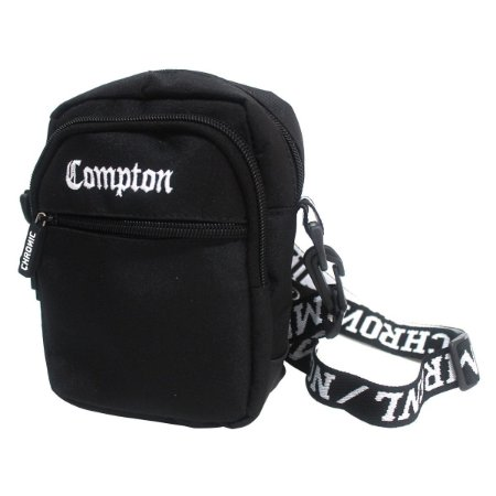 Shoulder Bag Chronic 420 Compton Bordado Preto Bolsa Pochete