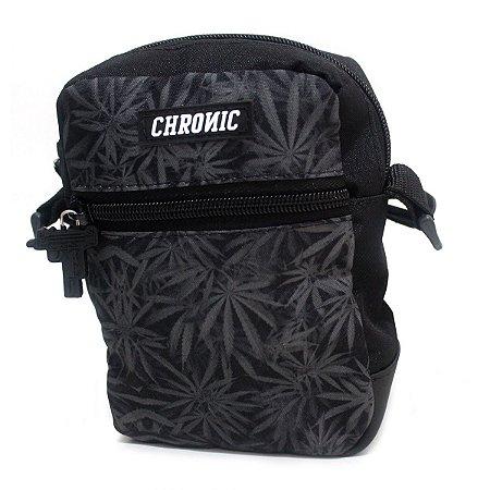 Shoulder Bag Chronic Cannabis Preto Bolsa Ombro Dupla Face