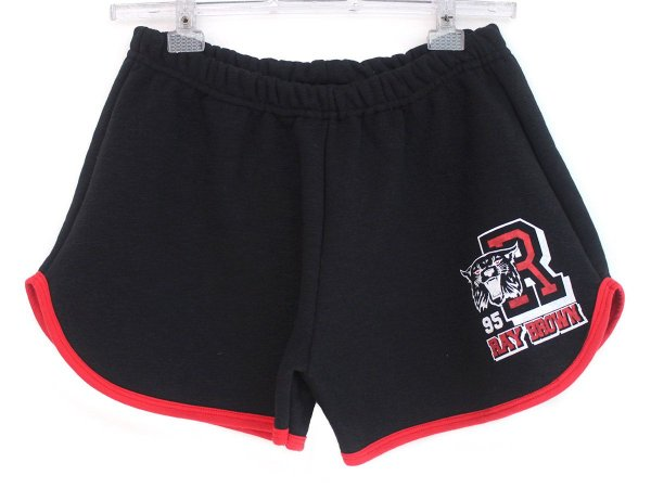 Short College Tiger Preto 13 Feminino Ray Brow